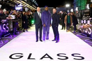 Bruce Willis, Samuel L. Jackson and James McAvoy attends the European premiere of Glass held at Curzon, Mayfair in London.