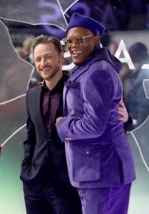 James McAvoy and Samuel L. Jackson attends the European premiere of Glass held at Curzon, Mayfair in London.