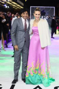 M. Night Shyamalan and Sarah Paulson attends the European premiere of Glass held at Curzon, Mayfair in London.