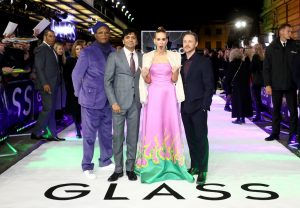 Samuel L. Jackson, M. Night Shyamalan, Sarah Paulson and James McAvoy attends the European premiere of Glass held at Curzon, Mayfair in London.