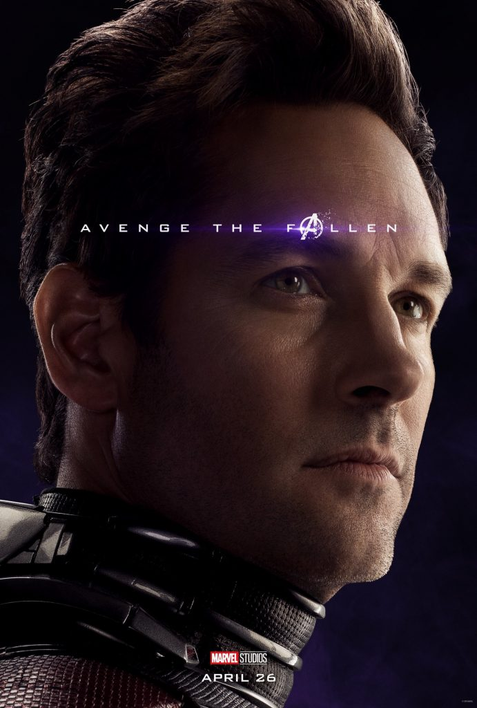 Marvel Avengers Endgame Official Character Posters Avenge the Fallen Paul Rudd as Ant-Man