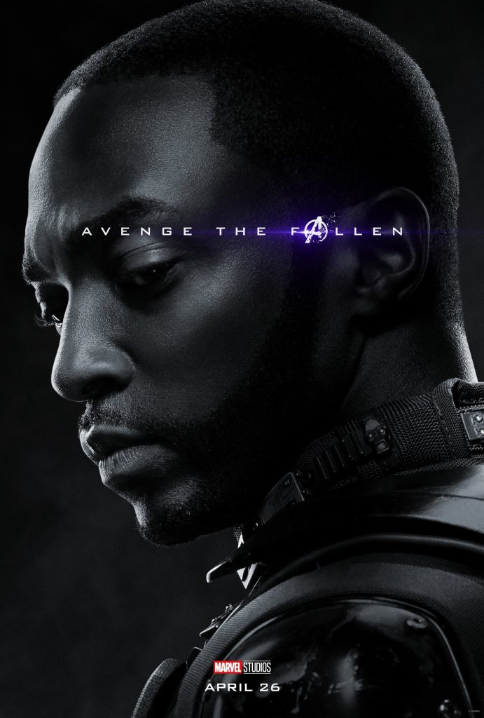 Marvel Avengers Endgame Official Character Posters Avenge the Fallen Anthony Mackie as Sam Wilson