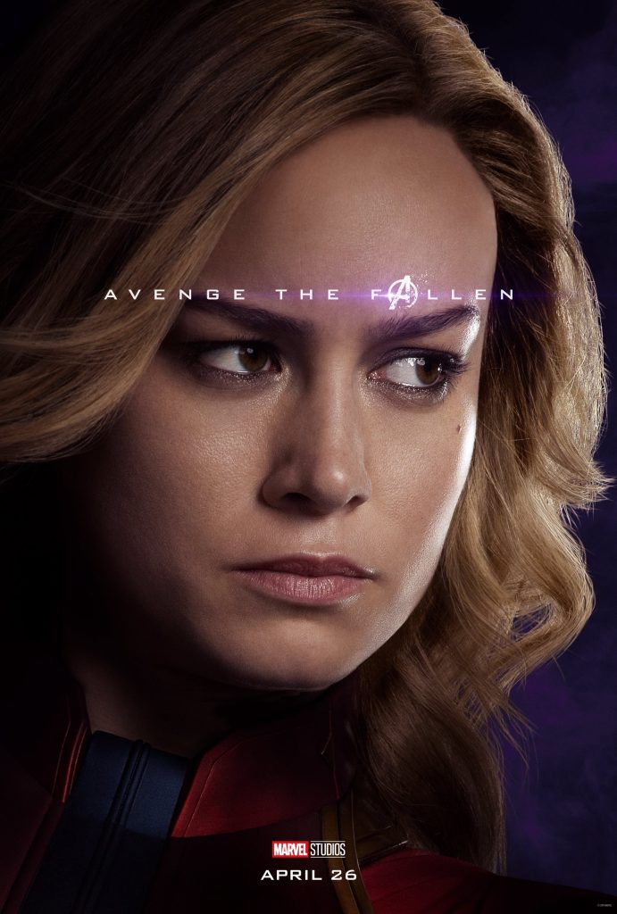 Marvel Avengers Endgame Official Character Posters Avenge the Fallen Brie Larson as Captain Marvel