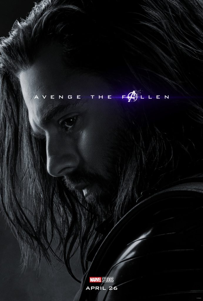 Marvel Avengers Endgame Official Character Posters Avenge the Fallen Sebastian Stan as Bucky Barnes