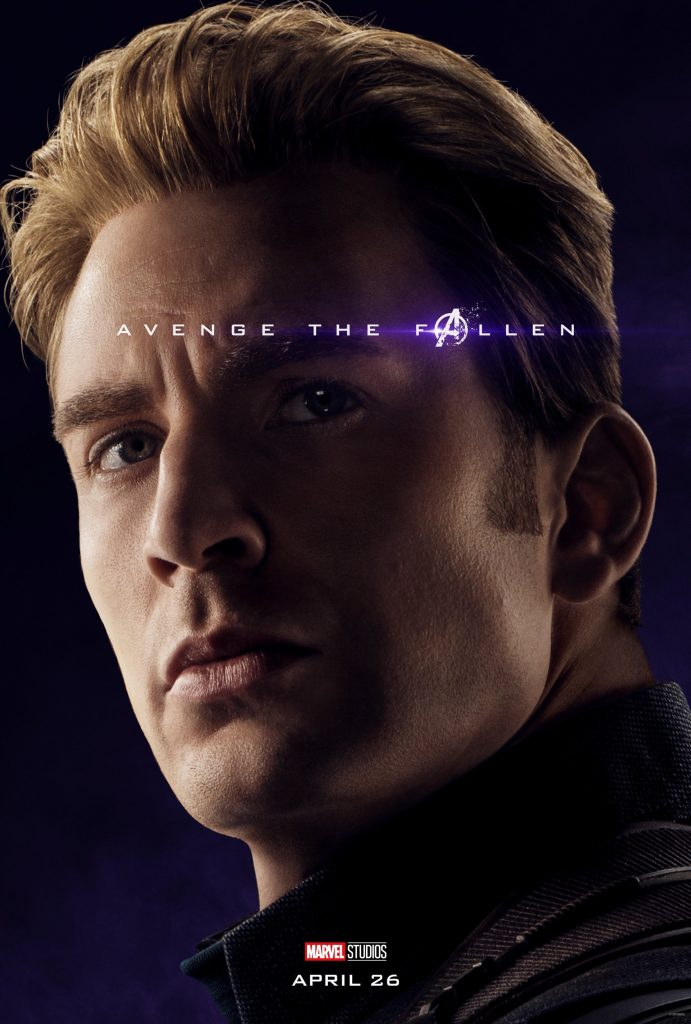 Marvel Avengers Endgame Official Character Posters Avenge the Fallen Chris Evans as Captain America