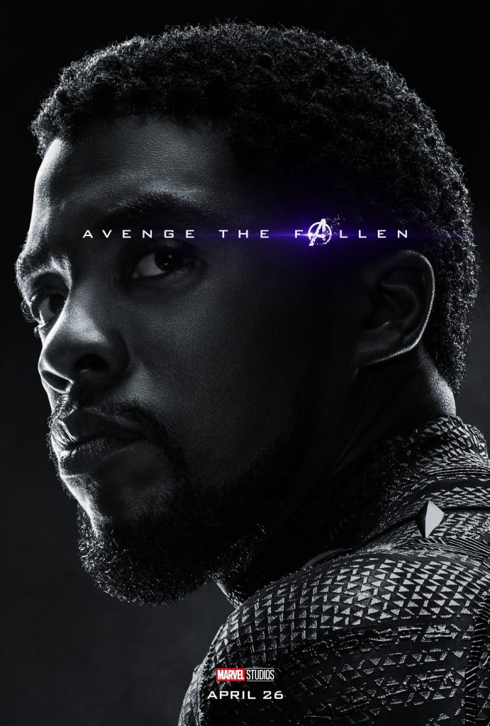 Marvel Avengers Endgame Official Character Posters Avenge the Fallen Chadwick Boseman as Black Panther