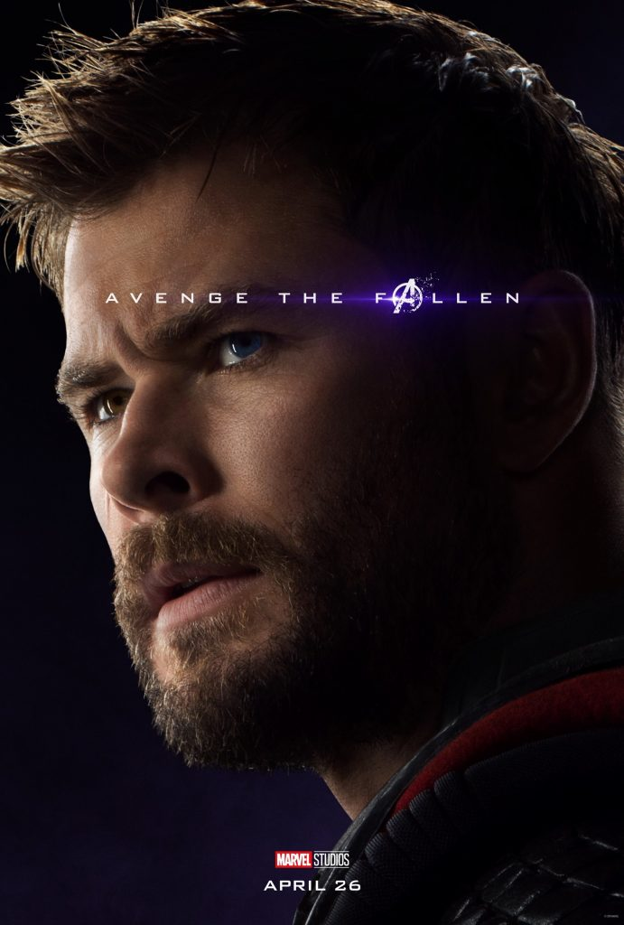 Marvel Avengers Endgame Official Character Posters Avenge the Fallen Chris Hemsworth as Thor