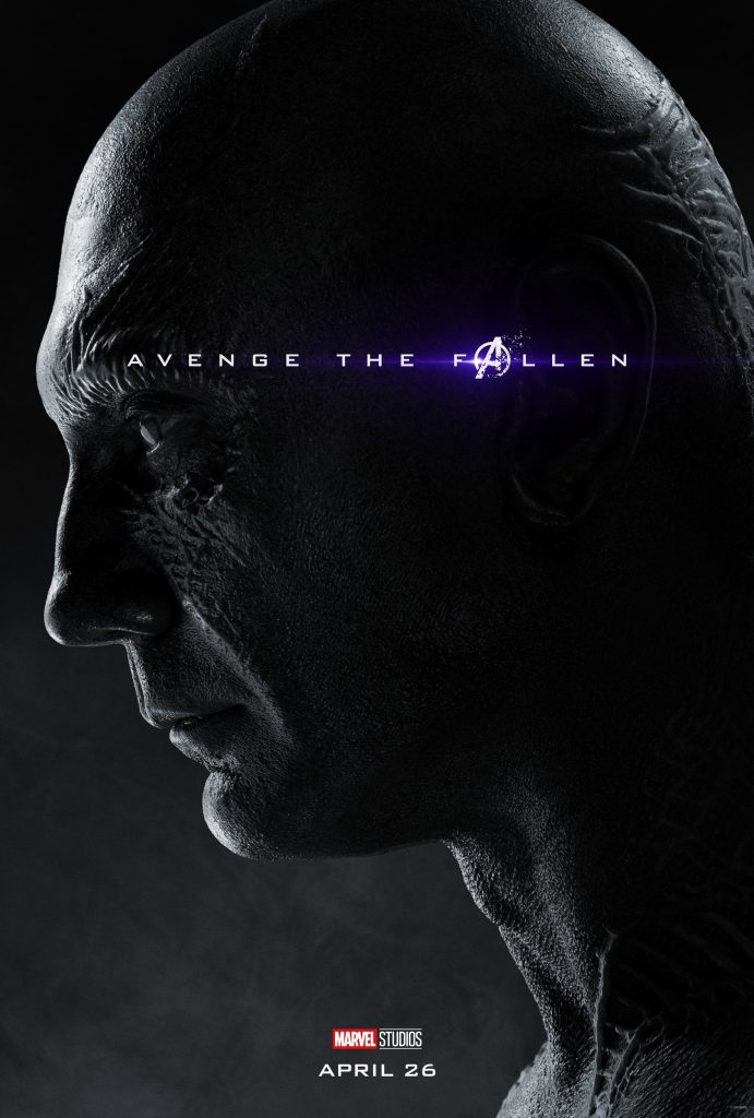 Marvel Avengers Endgame Official Character Posters Avenge the Fallen Dave Bautista as Drax