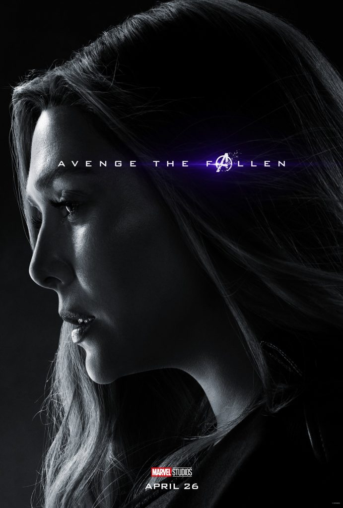 Marvel Avengers Endgame Official Character Posters Avenge the Fallen Elizabeth Olsen as Scarlet Witch