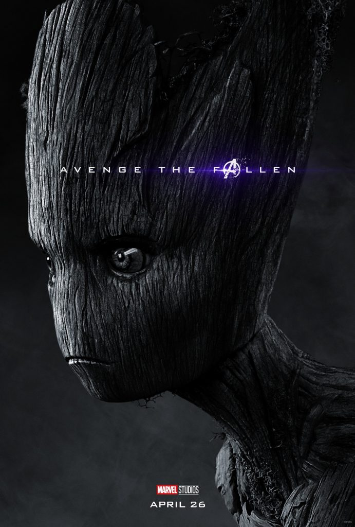 Marvel Avengers Endgame Official Character Posters Avenge the Fallen Groot