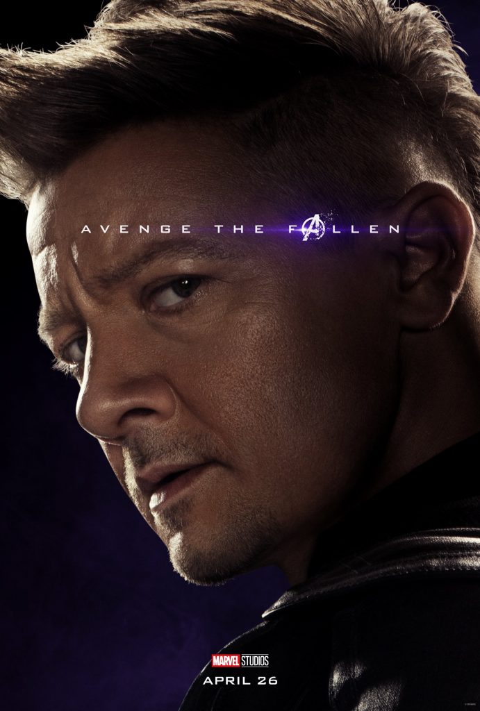 Marvel Avengers Endgame Official Character Posters Avenge the Fallen Jeremy Renner as Hawkeye