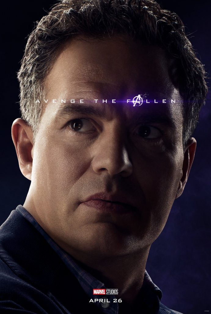 Marvel Avengers Endgame Official Character Posters Avenge the Fallen Mark Ruffalo as The Hulk