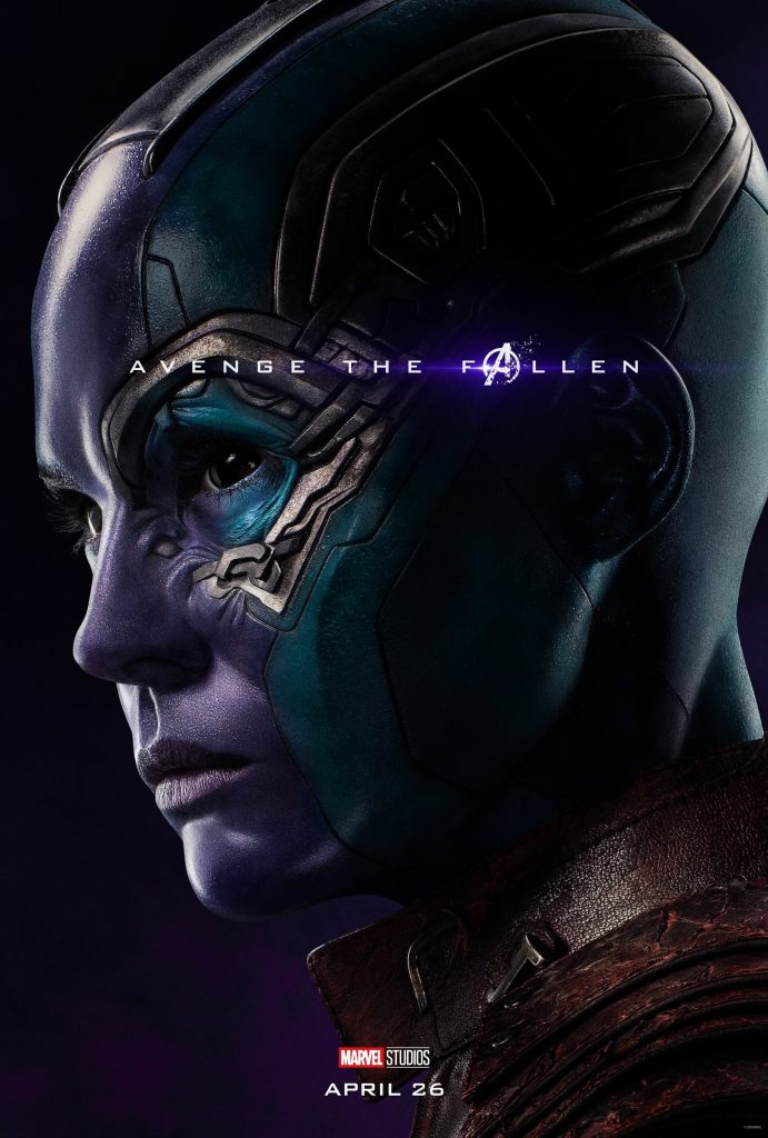 Marvel Avengers Endgame Official Character Posters Avenge the Fallen Karen Gillan as Nebula