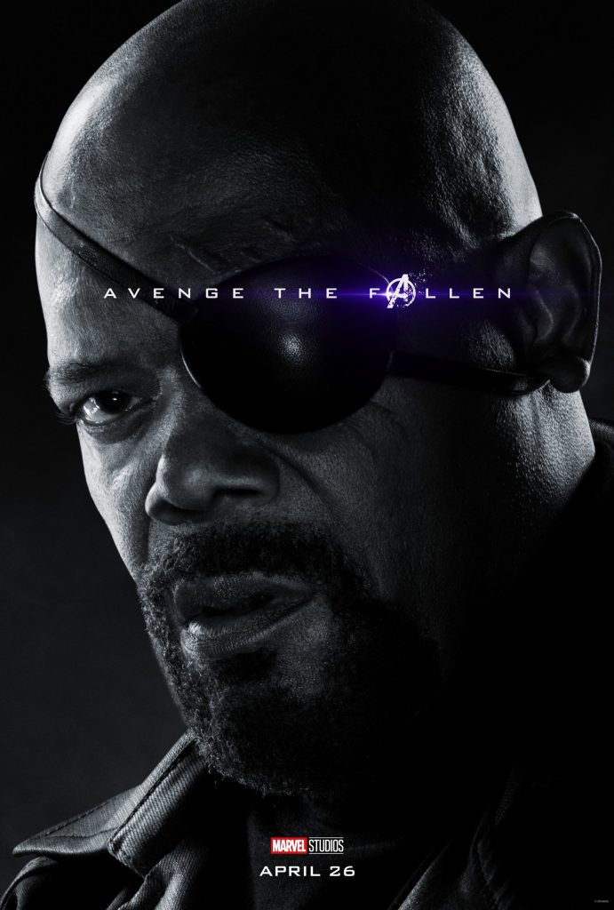 Marvel Avengers Endgame Official Character Posters Avenge the Fallen Samuel L. Jackson as Nick Fury