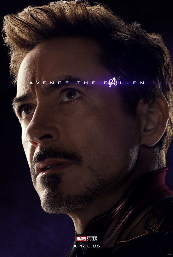 Marvel Avengers Endgame Official Character Posters Avenge the Fallen Robert Downey Jr as Iron Man