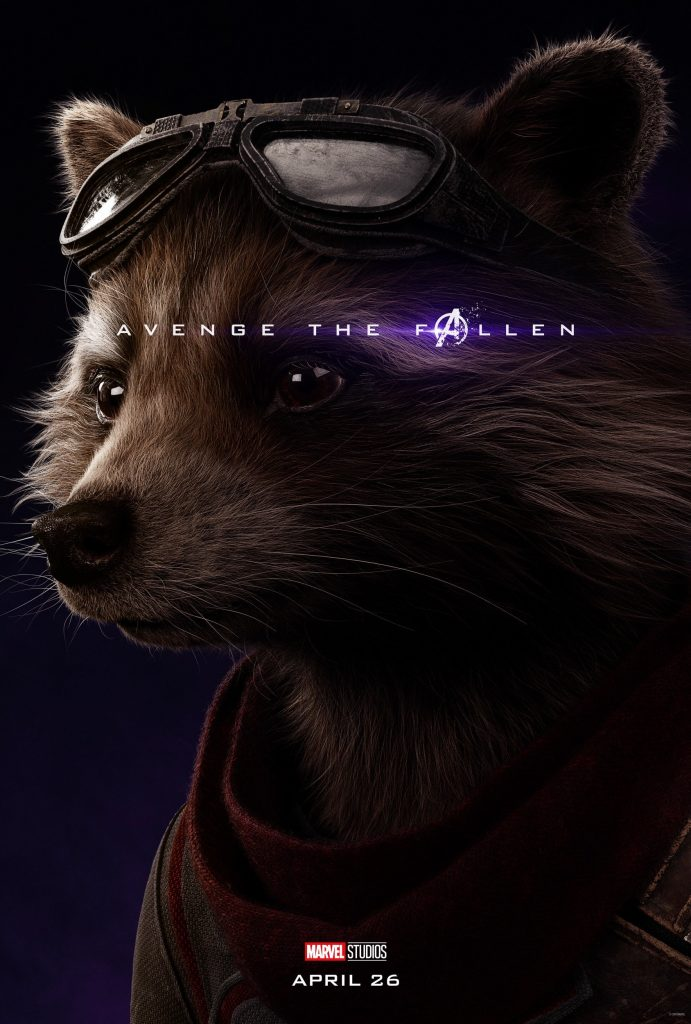 Marvel Avengers Endgame Official Character Posters Avenge the Fallen Bradley Cooper is Rocket