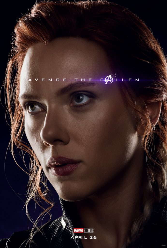 Marvel Avengers Endgame Official Character Posters Avenge the Fallen Scarlett Johansson as Black Widow