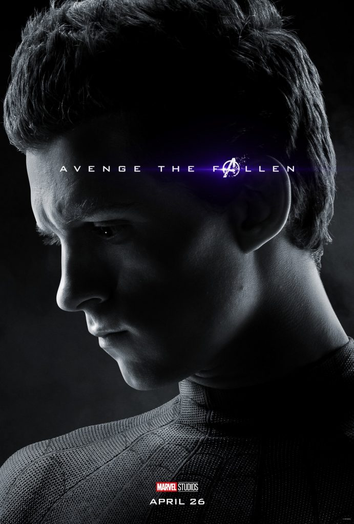Marvel Avengers Endgame Official Character Posters Avenge the Fallen Tom Holland as Spider-Man