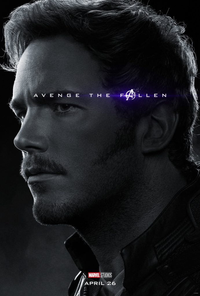 Marvel Avengers Endgame Official Character Posters Avenge the Fallen Chris Pratt as Starlord