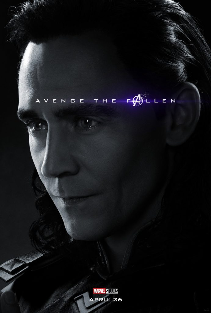 Marvel Avengers Endgame Official Character Posters Avenge the Fallen Tom Hiddleston as Loki