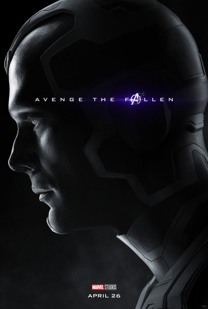 Marvel Avengers Endgame Official Character Posters Avenge the Fallen Paul Bettany is Vision