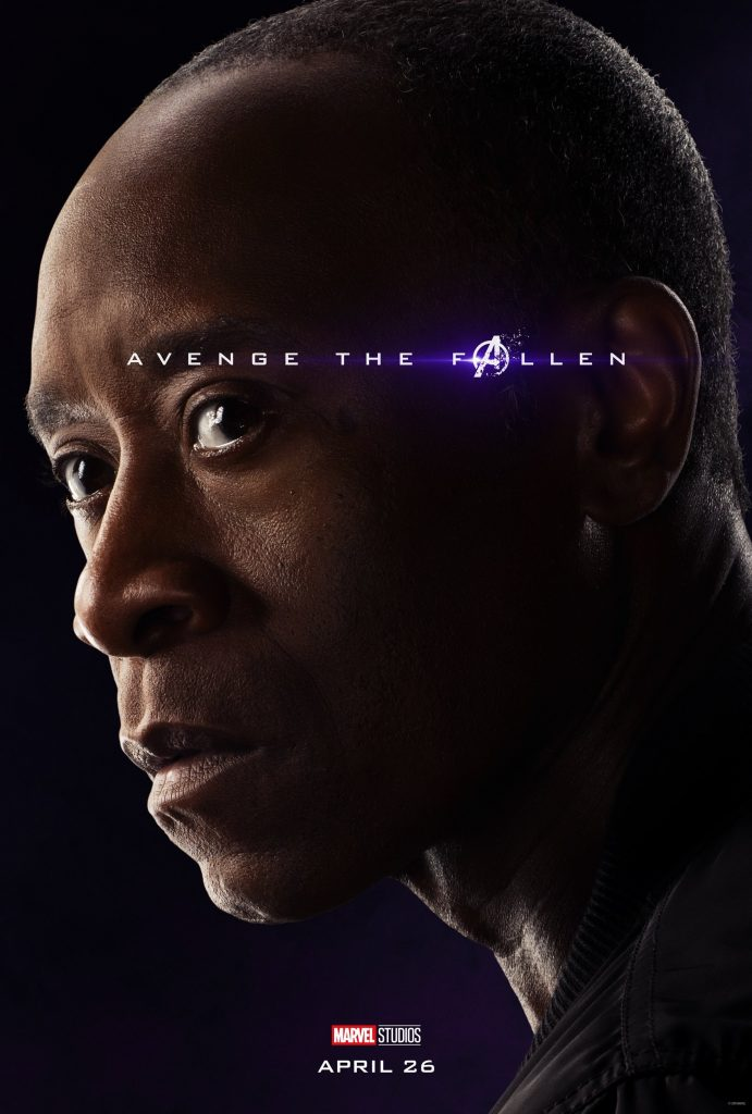 Marvel Avengers Endgame Official Character Posters Avenge the Fallen Don Cheadle as War Machine