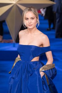 Brie Larson attends the European premiere of Captain Marvel in London.