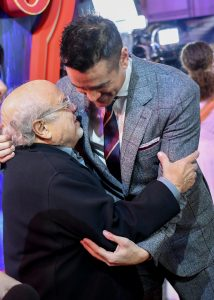 Danny DeVito and Colin Farrell attend the European premiere of Dumbo in London