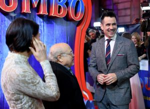 Danny DeVito and Colin Farrell attend the European premiere of Dumbo in London.