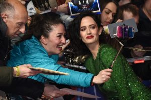 Eva Green with fans at the European premiere of Dumbo in London