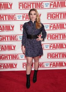 Florence Pugh at the UK premiere of Fighting with my Family