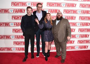 Jack Lowden, Stephen Merchant, Florence Pugh and Nick Frost at the UK premiere of Fighting with my Family