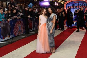 Nico Parker and Thandie Newton attend the Europenan premiere of Dumbo in London