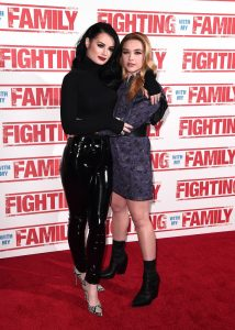 Paige Knight and Florence Pugh at the UK premiere of Fighting with my Family