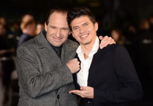 Ralph Fiennes and Oleg Ivenko at the UK premiere of The White Crow in London.