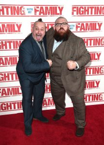 Ricky Knight and Nick Frost at the UK premiere of Fighting with my Family