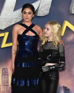 Rosa Salazar and Tilly Lockey at the world premiere of Alita Battle Angel in London.