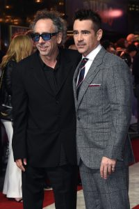Tim Burton and Colin Farrell attend the European premiere of Dumbo in London