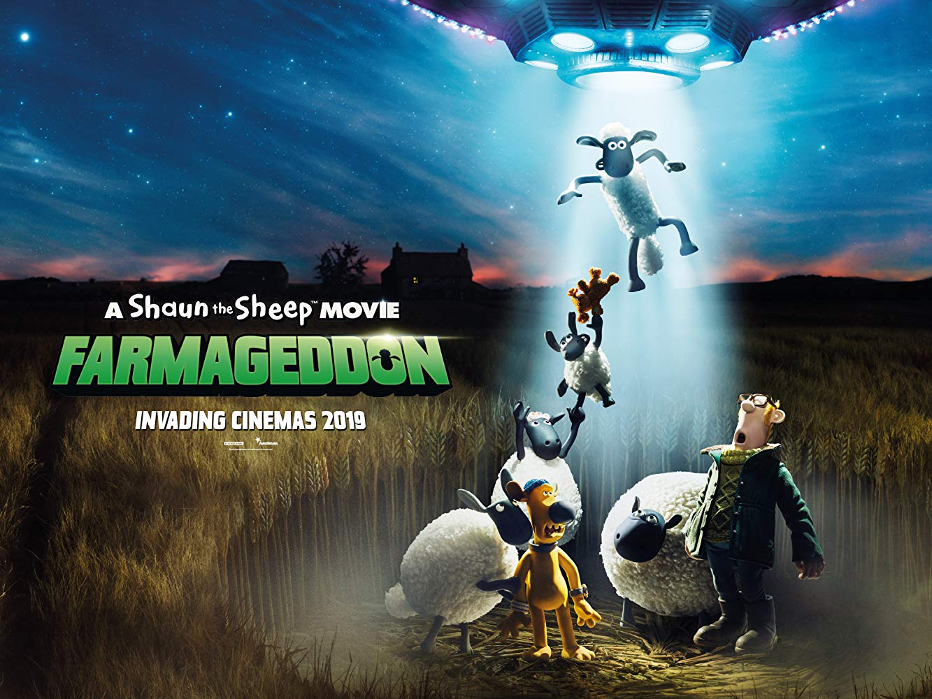 Faramageddon 2019 movie poster Shaun the sheep