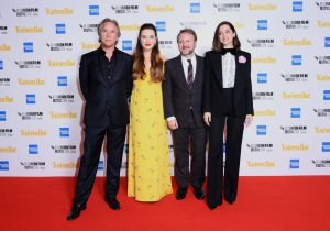 Don Johnson, Katherine Langford, Rian Johnson and Ana de Armas at the European premiere of Knives Out held during the 63rd BFI London Film Festival