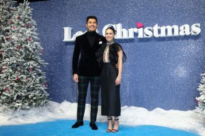 Emilia Clarke and Henry Golding attend the UK premiere of Last Christmas in London