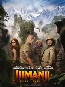 Jumanji the next level uk premiere london poster