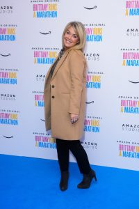 Lucy Alexander attends the UK premiere of Brittany Runs a Marathon held at Ham Yard Hotel, London.