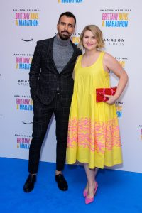 Paul Downs Colaizzo and Jillian Bell attend the UK premiere of Brittany Runs a Marathon held at Ham Yard Hotel, London.