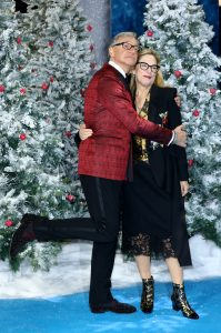 Paul and Laurie Feig attend the UK premiere of Last Christmas in London