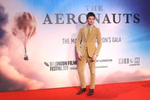 Eddie Redmayne attends the UK premiere of The Aeronauts during the 63rd BFI London Film Festival