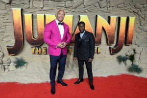 Dwayne Johnson and Kevin Hart attend the UK premiere of Jumanji: The Next Level in London