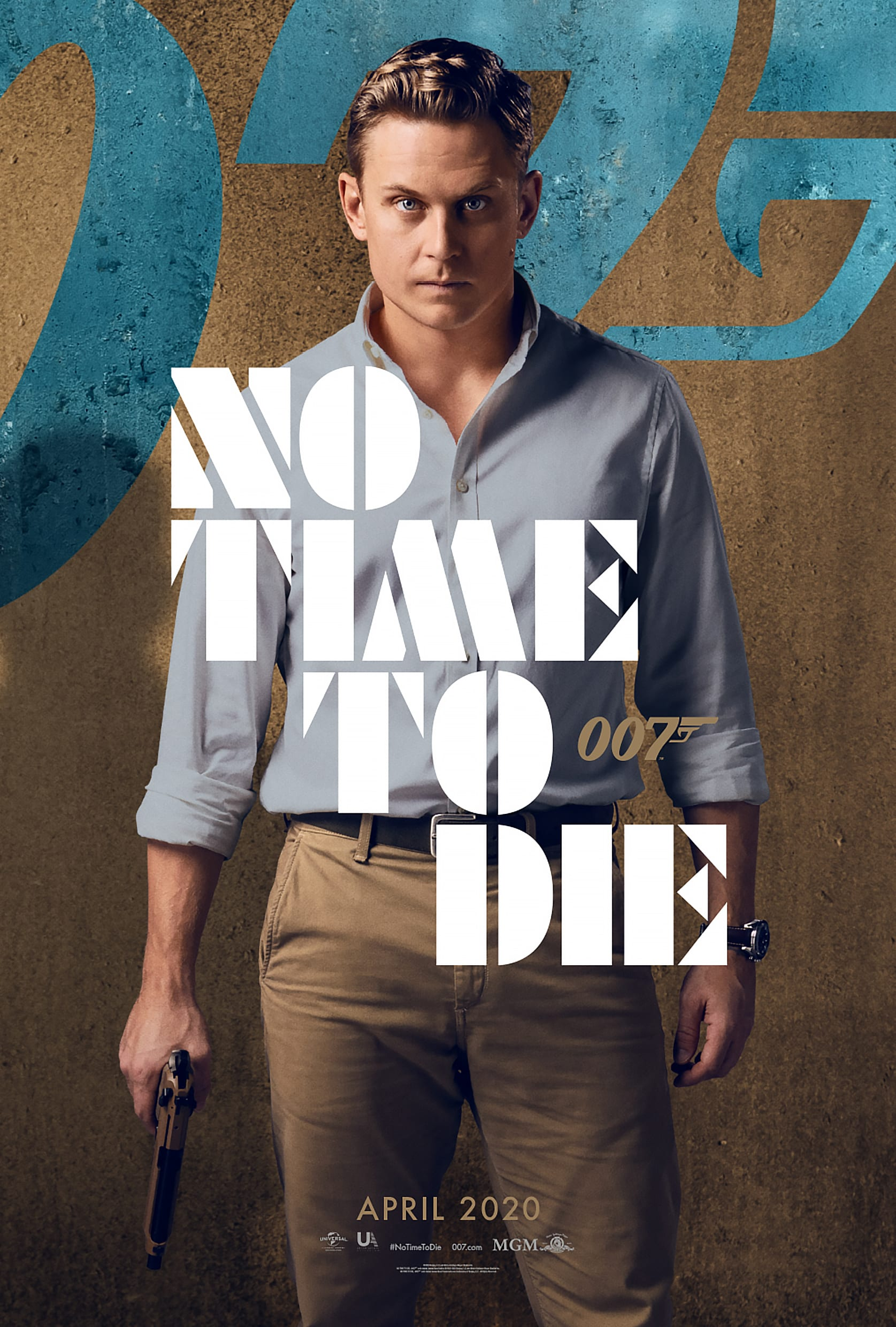 007 No Time To Die Bond 25 Character Posters Billy Magnussen as Logan Ash