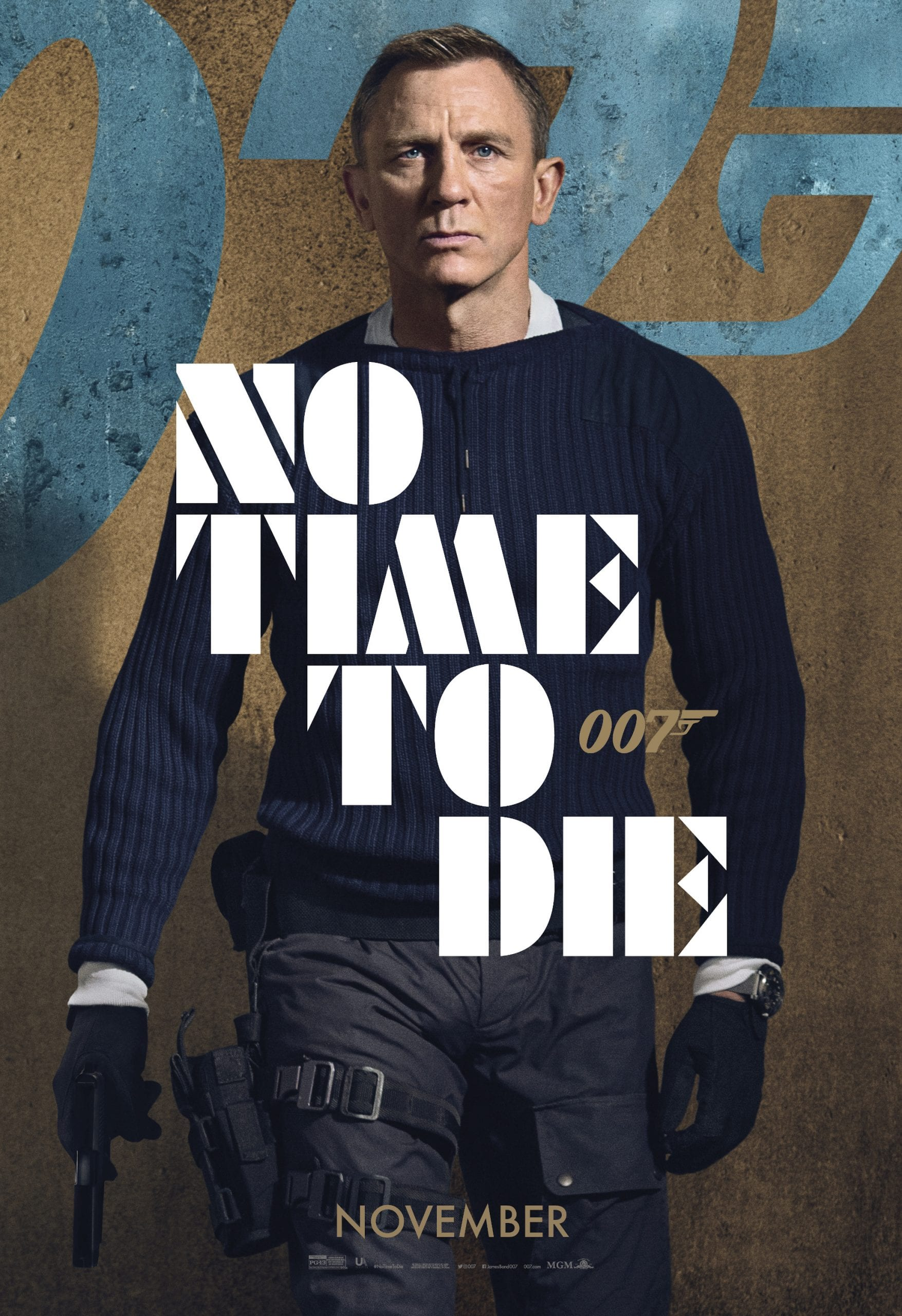 007 No Time To Die Bond 25 Character Posters Daniel Craig as James Bond