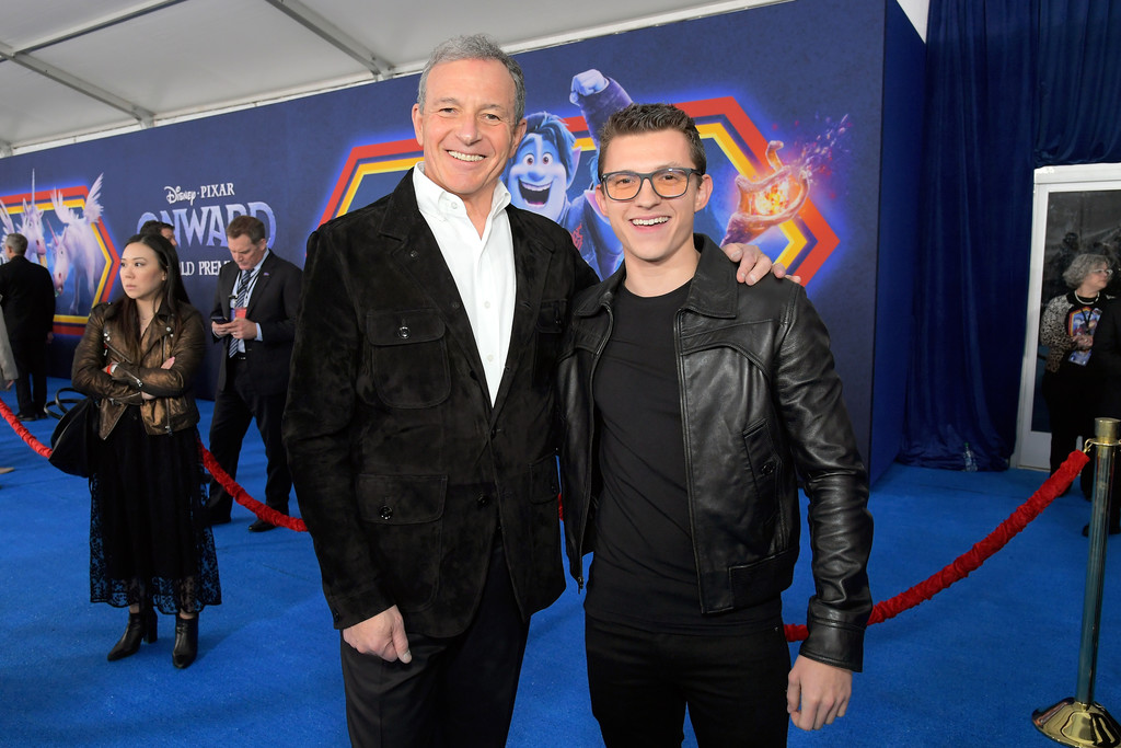 Bob Iger and Tom Holland Onward Hollywood Premiere Los Angeles Arrivals